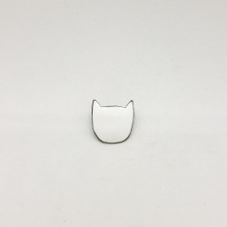 Broche chat blanc