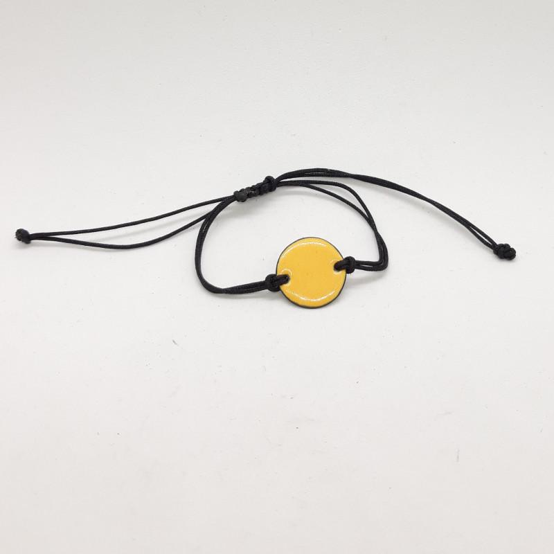 Bracelet rond jaune