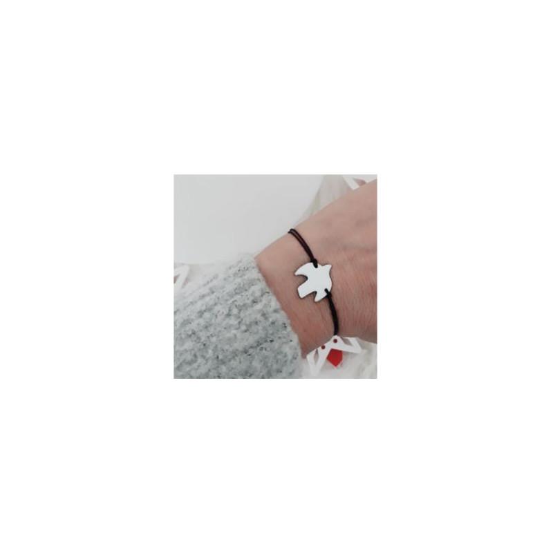Bracelet oiseau blanc