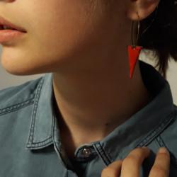 Boucles d'oreilles triangles sur créoles