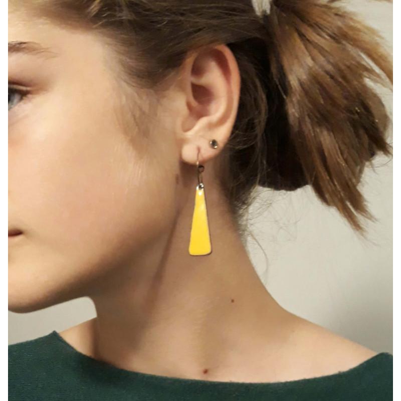 Boucles d'oreille trapèze mobile